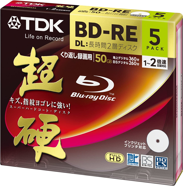 Tdk Blu Ray Disc 5 Pack 50gb 2x Bd Re Dl Printable Elektronik