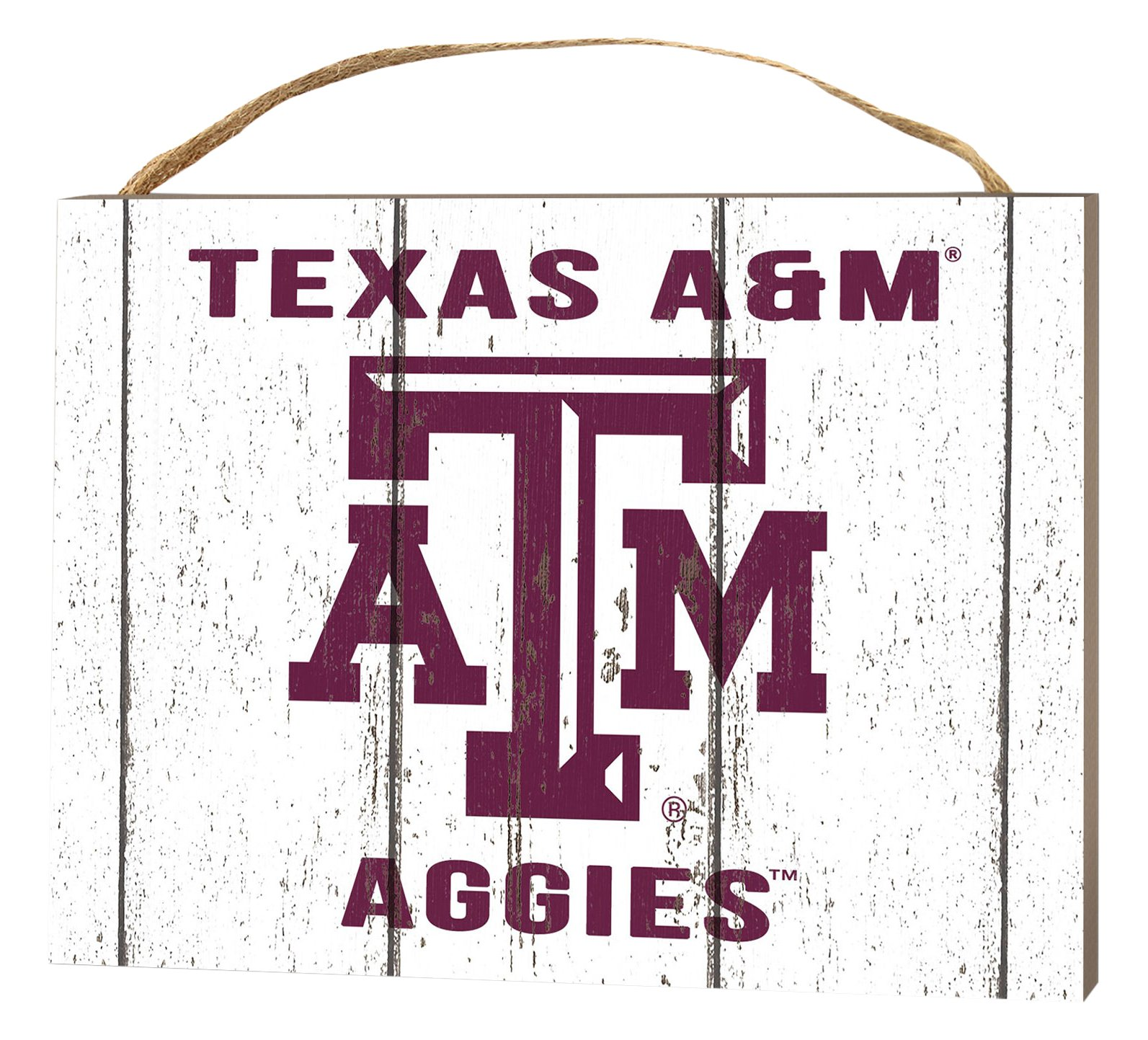 KH Sports Fan 4'' x 5.5'' Texas A&M Aggies Weathered Logo Small College Plaque