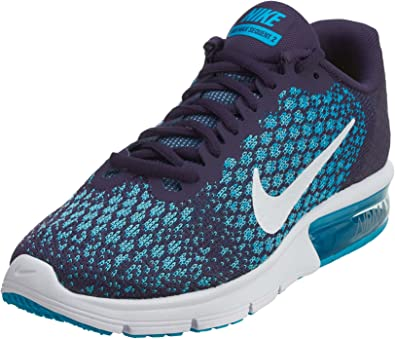 nike air max sequent 2 navy blue running scarpe