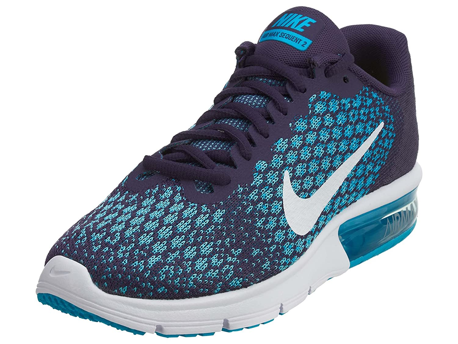 NIKE Men's Air Max Sequent 2 Running Shoe B01K2LQ8NE 10 B(M) US|Dark Raisin/White