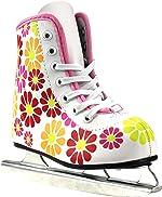 Girls American Flower Power Double Runner Ice Skate