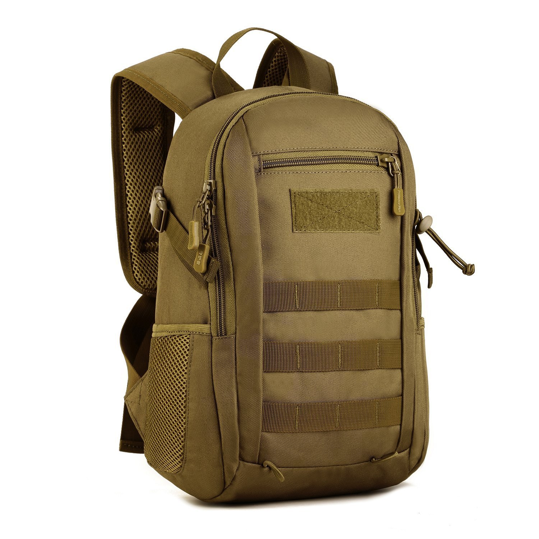 Huntvp Mochila de Asalto Estilo Militar T/áctical Molle Bolsa de Bandolera Impermeable 12L para Las Actividades Aire Libre Senderismo Caza Viajar Camping