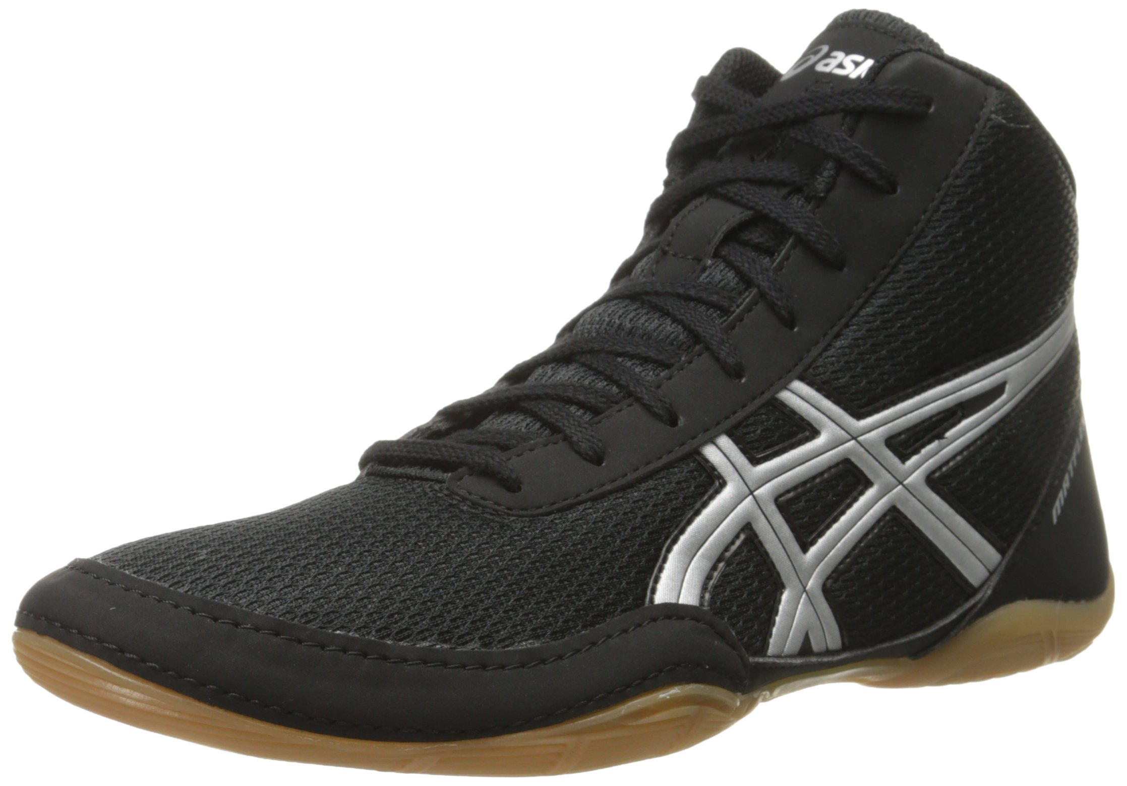 ASICS Men's Matflex 5-M, Black/Silver 6.5 M US