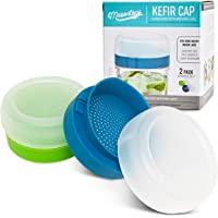 Masontops - Tapas para kéfir de boca ancha, colador de granos de cultivo vivo, kit de inicio de fermentación para el…