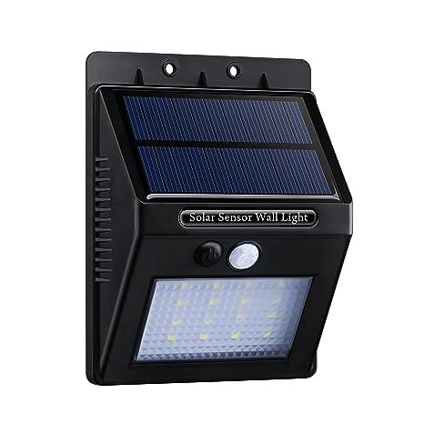 16 LED Lámpara Solar con Sensor de Movimiento,Topop Foco Solar Impermeable de Pared con