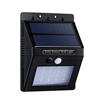 16 LED Lámpara Solar con Sensor de Movimiento,Topop Foco Solar Impermeable de Pared con