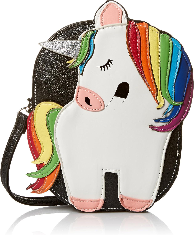 Sleepyville Critters - Rainbow Unicorn Crossbody Bag in Vinyl Material