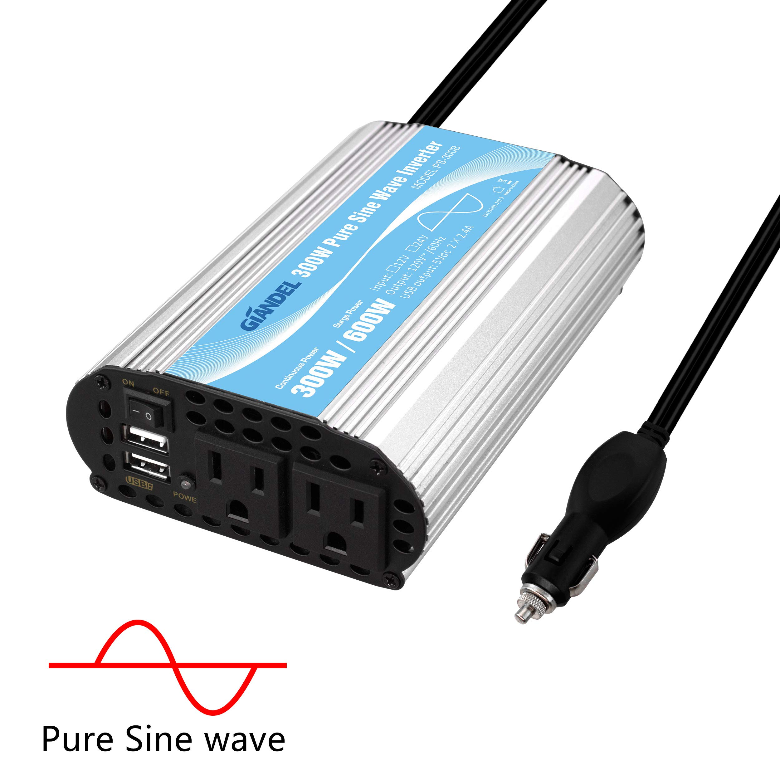 Pure Sine Wave Inverter 300Watt CAR Power Inverter