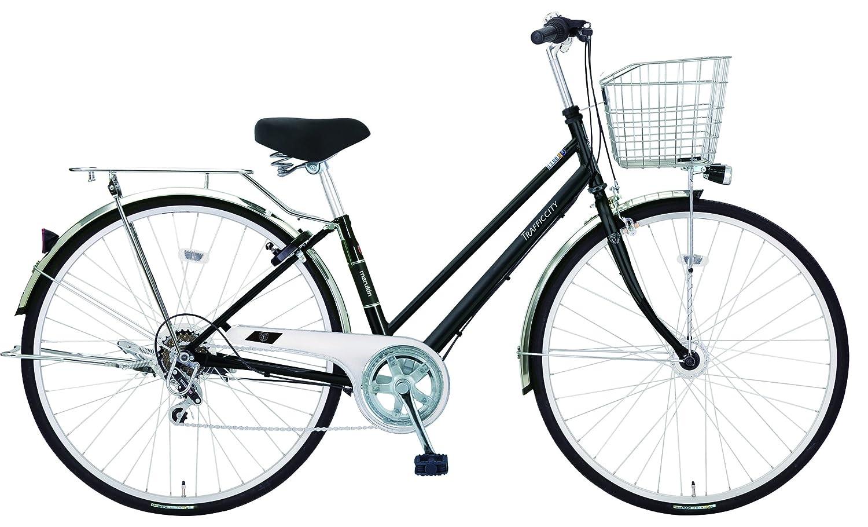 marukin(マルキン) 27型耐パンク自転車 トラフィックシティ 外装6段 3年盗難補償付 MK-18-031 ブラック MK-18-031 B07D7GBMQW