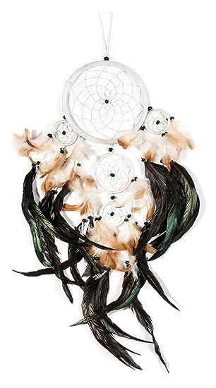 Traumfänger schwarz mit Federn M