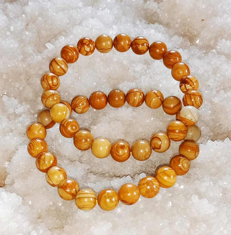 Picture Jasper CACRYSTALS Crystal Bracelet Stretchy Beaded Gemstone Rubber Band for Men Women Hand Made Natural Bead Round Shape Bracelet New