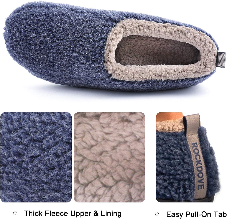 in memory foam foderate in flanella Pantofole da uomo RockDove