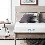 LUCID 5 Inch Gel Memory Foam Mattress - Dual-Layered - CertiPUR-US Certified - Firm Feel - Twin Size