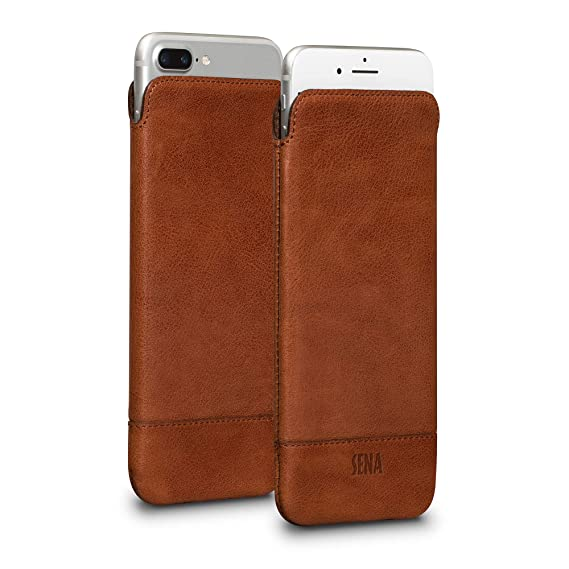 100% authentic 034b7 d86c2 Sena Ultraslim Heritage Thin Tumbled Leather Pouch Sleeve Iphone 7  Plus-Brown