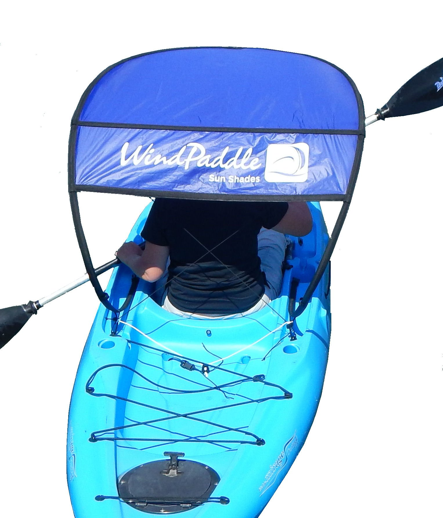WindPaddle Sails Sun Shade for Kayaks and Canoes SUP's and Inflatables, Blue, Large