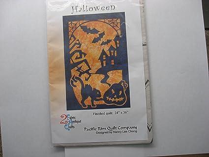 Amazon halloween fabric applique pacific rim quilt pattern