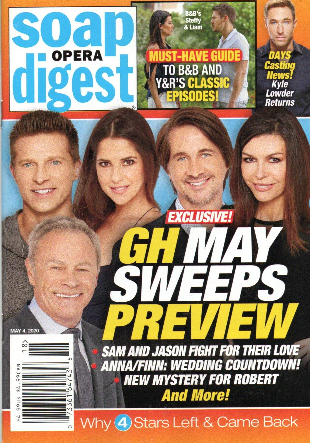 Soap Opera Digest Magazine May 4 2020 Steve Burton Kelly Monaco Michael Easton Finola Hughes Tristan Rogers General Hospital May Sweeps Preview Stephanie Sloane Stella Bednarz Amazon Com Books