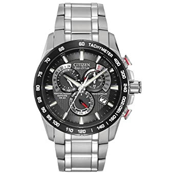 4a17d5743fe Citizen Men s Eco-Drive Perpetual Chrono Atomic Timekeeping Watch with Day  Date