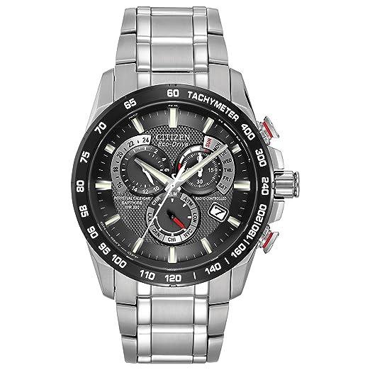 Citizen AT4008-51E - Reloj analógico de Cuarzo para Hombre, Correa de Acero Inoxidable Color Plateado: Amazon.es: Relojes