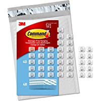 Command Light Clips, Mini, Clear, 45 clips, 54 strips, Indoor Use (CL806-45NA)