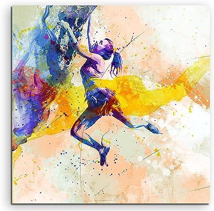 Escalada 60 x 60 cm – cuadro Sport de acuarela bonitos colores de Paul Sinus