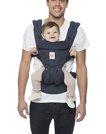 Ergobaby Carrier Omni 360 All Carry Positions Baby Carrier Navy Mini Dots