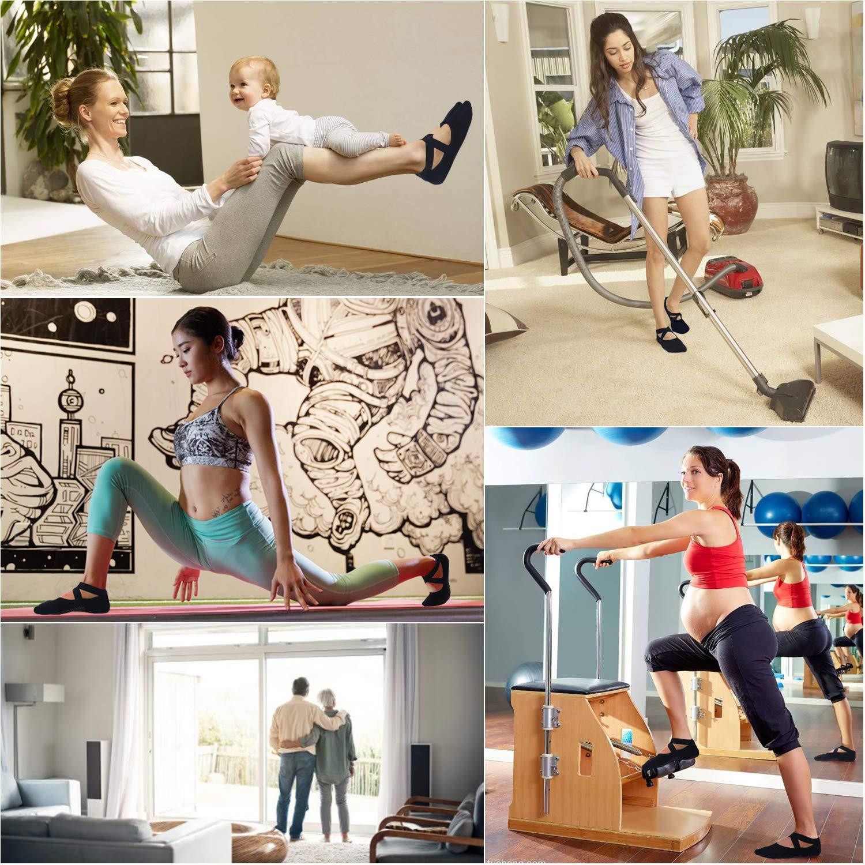 Barre Ballet VIMOV Non-Slip Grips Socks for Women Ideal Black Skid Socks for Yoga Fitness/&Barefoot Dance Workout Pilates