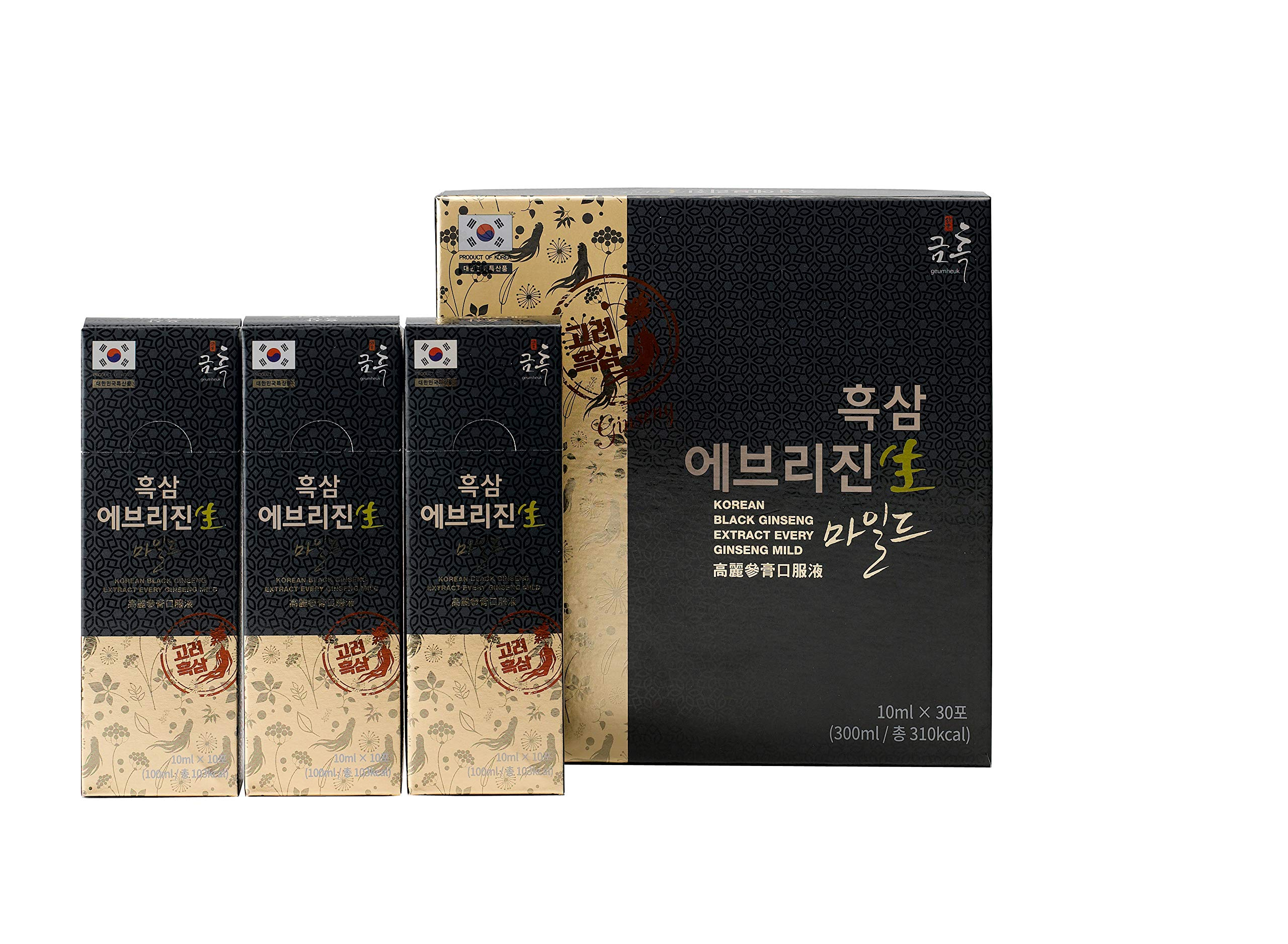 GeumHeuk Korean Black Extract EveryGin Mild (10mL X 30 Pouch) - Premuim Quality Korean Black Ginseng. Boost Immunity and Promote Mental & Sex Health by GeumHeuk (Image #1)
