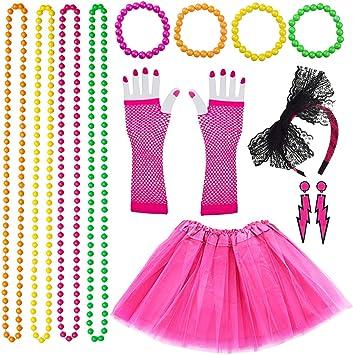 VSTON 80s Disfraz de Disfraces para Mujeres niñas Adultos 80 ...