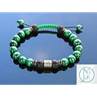 Scorpio Malachite/Lava Birthstone Bracelet 6-9'' Macrame Healing Stone Chakra Reiki With Pouch FREE UK SHIPPING