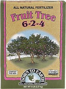 Down to Earth Organic Fruit Tree Fertilizer Mix 6-2-4, 5lb