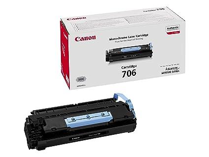 Canon cartucho 706 de tóner original negro para impresoras láser i-SENSYS MF6530, MF6540PL, MF6550, MF6560PL, MF6580PL