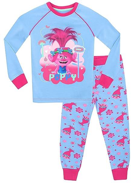 Trolls - Pijama para niñas - Trolls Poppy - Ajuste Ceñido - 2 - 3 Años