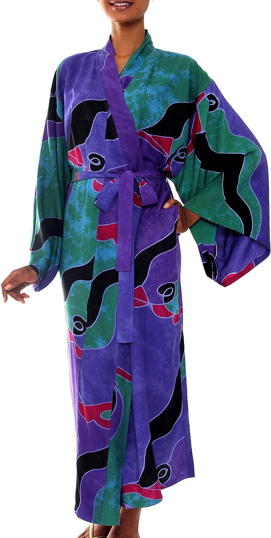 Bridal Party Robe Women/'s Robe Hand Dyed Kimono Tie Dye Bathrobe Hospital Robe # 74 Kimono Style Tie Dye Cotton Sari Robe