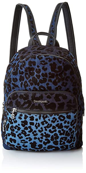 Desigual - Bols_poppins Lima, Bolsos mochila Mujer, Azul (Azul Cobalto), 11x34x25 cm (B x H T): Amazon.es: Zapatos y complementos