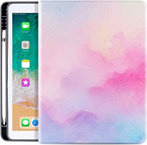 Cutebricase Universal iPad 10.5/10.2 Case for iPad 8th/7th Generation Case, iPad Air 3rd Generation,iPad Pro 10.5 Case 2017 with Pencil Holder, Soft TPU Leather Shockproof iPad Cover Auto Wake Sleep