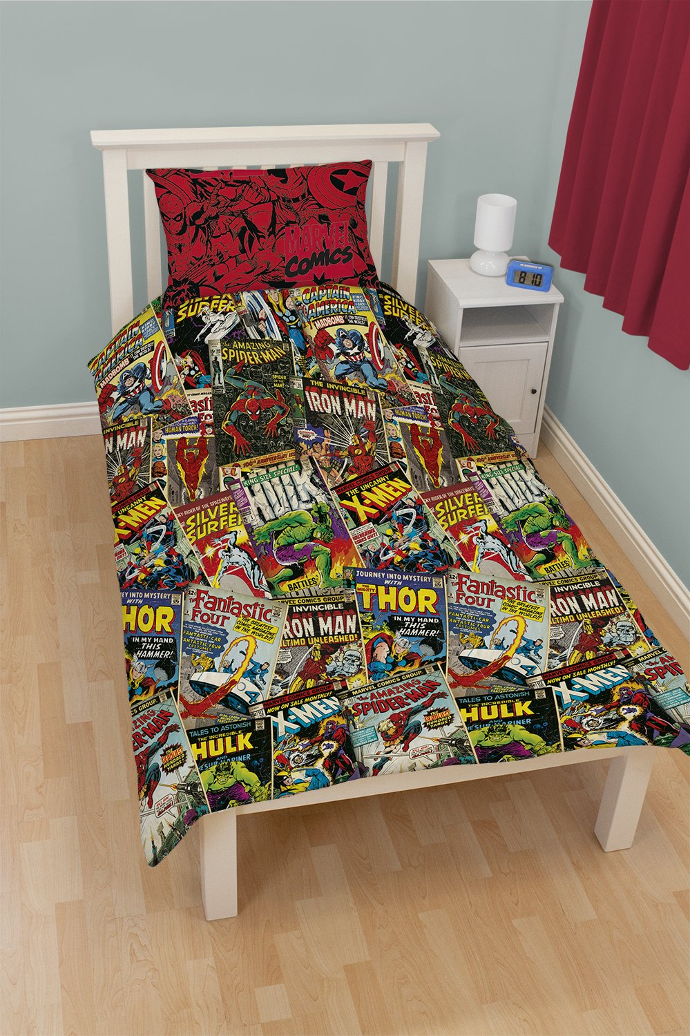 Marvel Comic Heroes Single Bed Duvet Cover Set