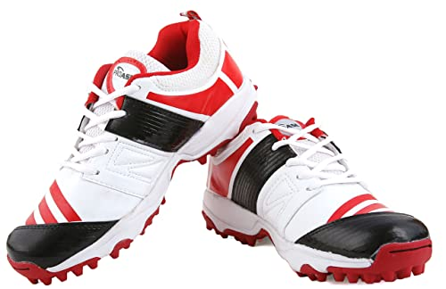 61b2e052f233 PRO ASE White Red Cricket Shoe  Buy Online at Low Prices in India ...