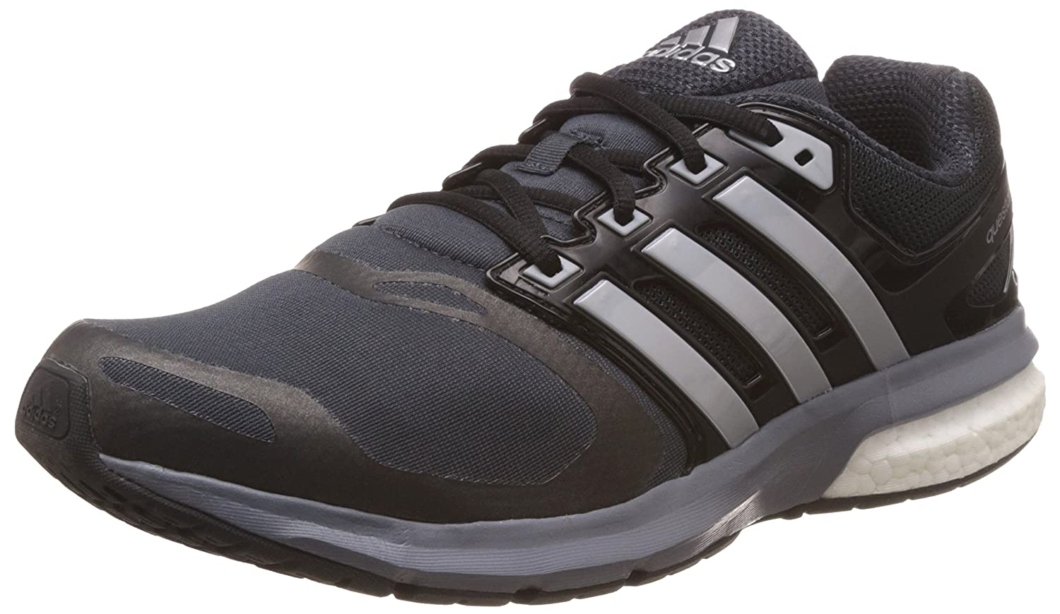 sale retailer 8c68f 4dabf Amazon.com   adidas Mens Questar Boost TF Running Trainers Sneakers Shoes  (UK 8 US 8.5 EU 42, Black Silver White AQ6632)   Road Running