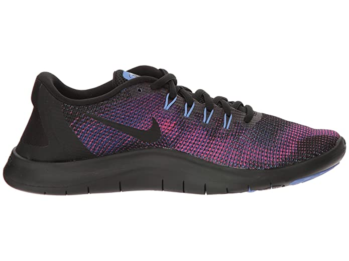 bde9d1be2c0ba Nike Women's Flex RN 2018 Running Shoe Black/Royal Pulse/Deep Royal Blue  Size 9 M US