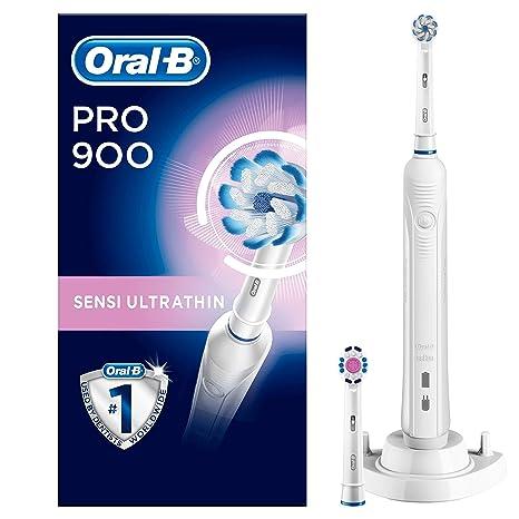 Oral-B Pro 900 - Cepillo de dientes eléctrico, con temporizador, color blanco