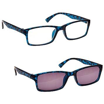 de42a16685 The Reading Glasses Company Blue Tortoiseshell Near Short Sighted Myopia  Distance   Sun Distance Glasses Value