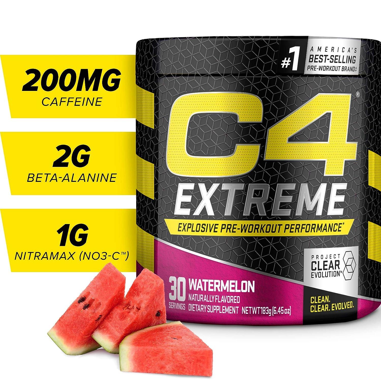Cellucor C4 Extreme Pre Workout Powder, Watermelon, 30 Servings, Preworkout Energy Drink , 6.45 Ounce