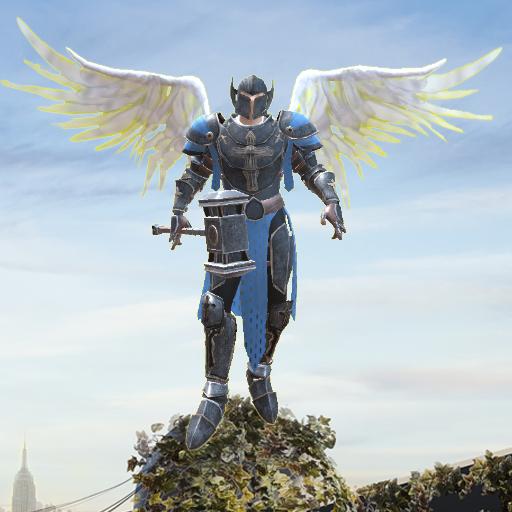 Crime Angel Superhero - Vegas Air Strike - Free Angel Wings