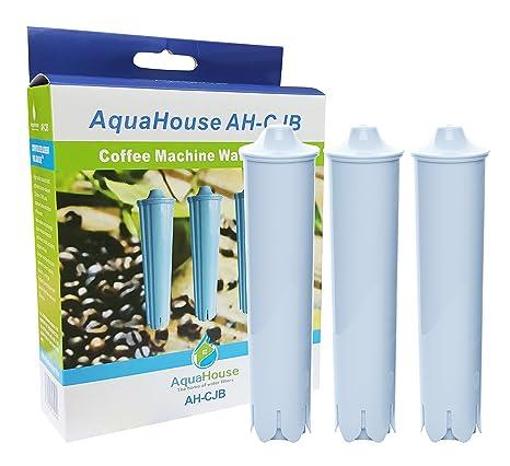 3x AquaHouse AH-CJB compatible para Jura Claris Blue filtro de agua de la máquina