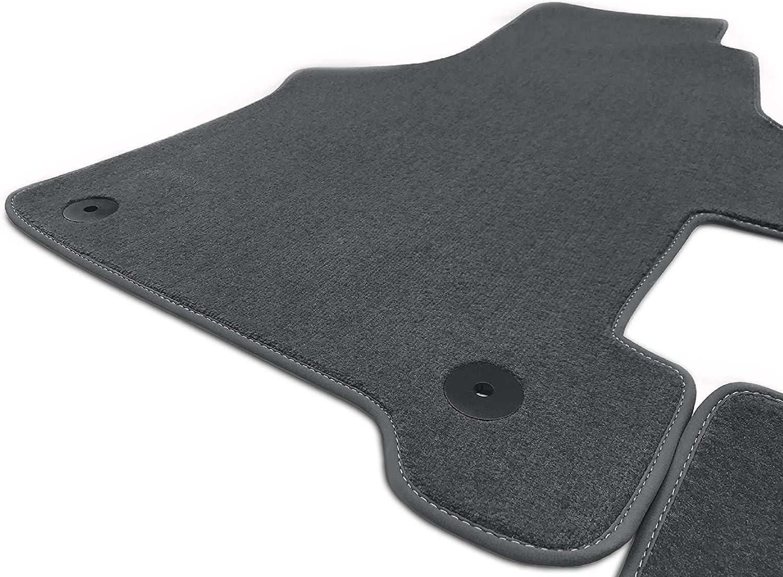 Car Styling Fußmatte T4 2 Sitzer Schaltgetriebe Grau Premium Velours Hochwertige Graue Umrandung Auto