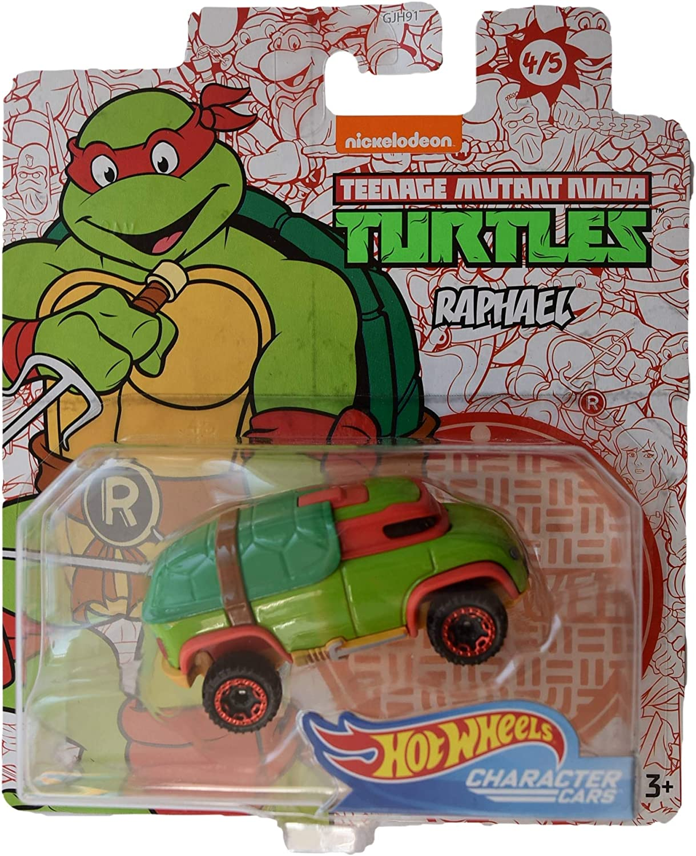 Hot Wheels Character Cars Teenage Mutant Ninja Turtles Raphael #4 of 5 Cars
