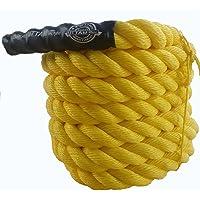 "ESSKAY UTTAM Gym Exercise Rope (1.5 "" Thick / 30 Feet Exercise Rope) Battle Rope;Battle Rope"
