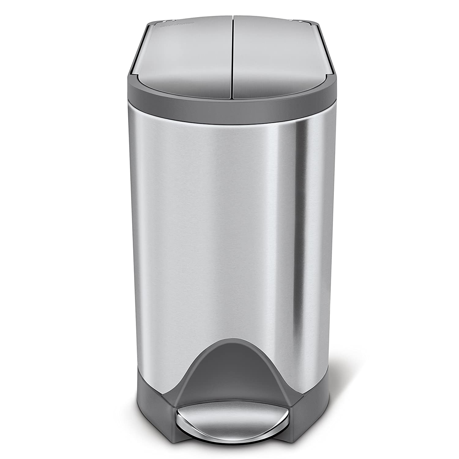 Amazon simplehuman Butterfly Step Trash Can 10 L 2 6 gallon