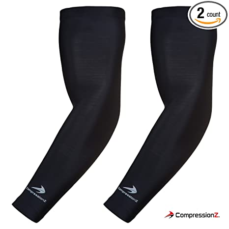 7bf80f47c4 CompressionZ Arm Sleeve (Pair) - Sports Compression Sleeves for Baseball,  Basketball, Football